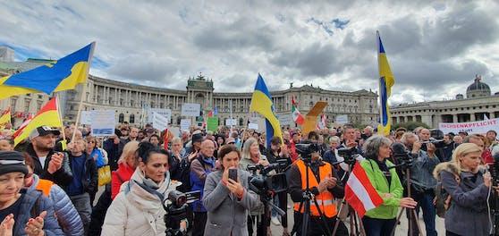 Am Wiener Heldenplatz wurde wieder eine Demo angekündigt.