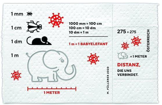 So sieht die Corona-Sondermarke der Österreichischen Post aus.