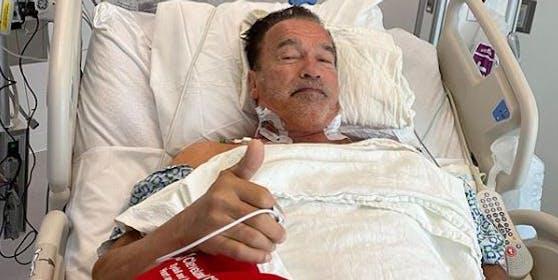 """I'll be back"": Schauspieler Arnold Schwarzenegger im Spital"