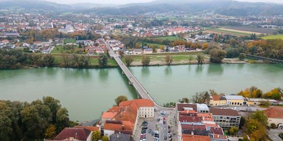 Die Grenze in Braunau zum Landkreis Rottal-Inn