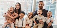 Dieses Paar bekam in nur 4 Jahren 9 Kinder
