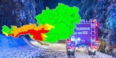 Schnee-Chaos sorgt in 4 Bundesländern für Warnstufe Rot