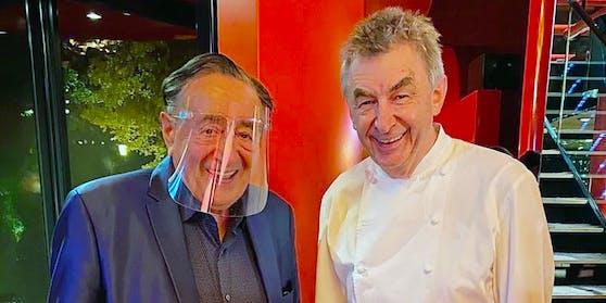 Richard Lugner mit Noch-Tantris-Küchenchef Hans Haas