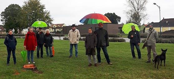 """Grüne protestierten gegen """"ökologischen und finanziellen Kahlschlag"""""""