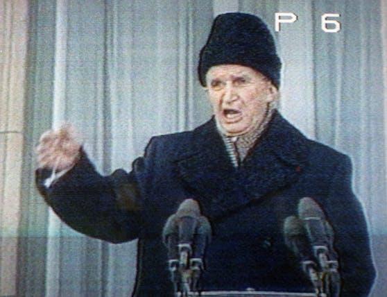Der einstige Diktator Rumäniens: Nicolae Ceausescu