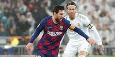 Ramos nimmt Barca-Star Messi spektakulär den Ball ab