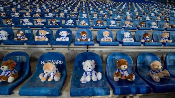 Teddybären dürfen trotz Coronavirus-Pandemie ins Stadion.