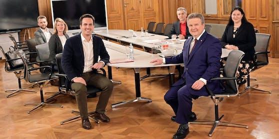 Christoph Wiederkehr (NEOS) und Michael Ludwig (SPÖ) bei den anfänglichen Koalitionsverhandlungen.