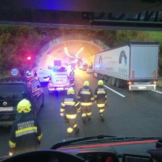 Der Unfall ereignete sich im Großliedltunnel auf der A2 im Lavanttal.