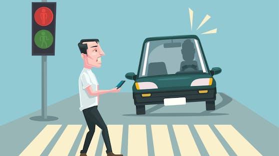 Verkehrssignale sollen ab Frühling 2021 auf Handys in der Umgebung anzeigen, ob die Ampel auf Rot oder Grün steht. Damit will man Unfälle vermeiden.