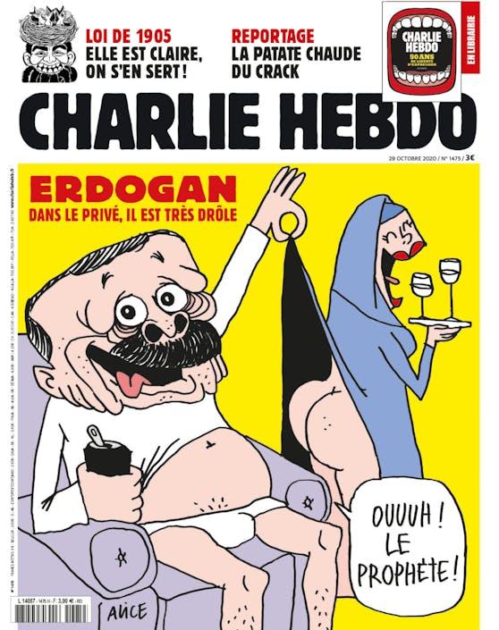 "Erdogan abgebildet im Satiremagazin ""Charlie Hebdo"""