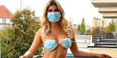 Micaela Schäfer macht Maskenpflicht zur Strip-Show