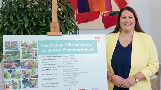 Wohnbaustadträtin Kathrin Gaal (SPÖ) gratuliert den Gewinnern.