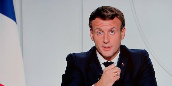 In einer TV-Ansprache kündigte Staatspräsident Emmanuel Macron einen erneuten Lockdown an.