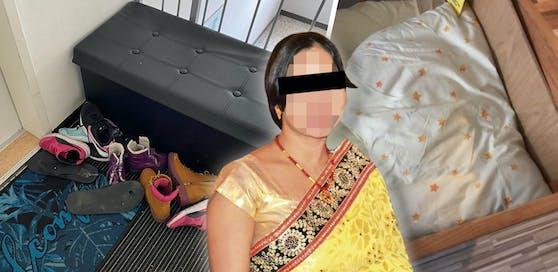 Die 31-jährige Nepalesin soll drei Kinder in Wien mit diesem Polster erstickt haben.
