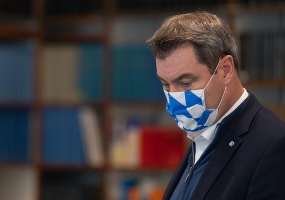 Markus Söder vor einem dem Kabinettstreffen zur Coronalage in Bayern, 29. Oktober 2020