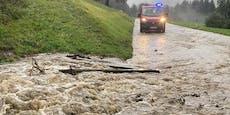 Hochwasser und Mure führen zu Totalsperre in Kärnten