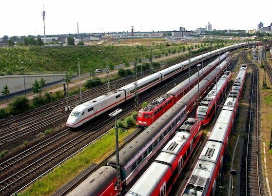 Der Bereitstellungs-Bahnhof Köln-Deutzerfeld.