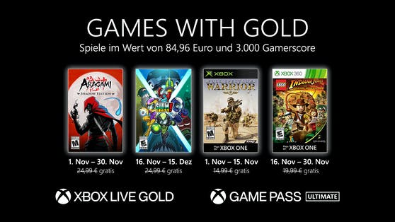 Die Games with Gold im November 2020.
