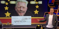 Pocher überreicht Becker Fake-Auszeichnung