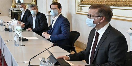 Videokonferenz der Regierungsspitze im Kanzleramt (Archiv)