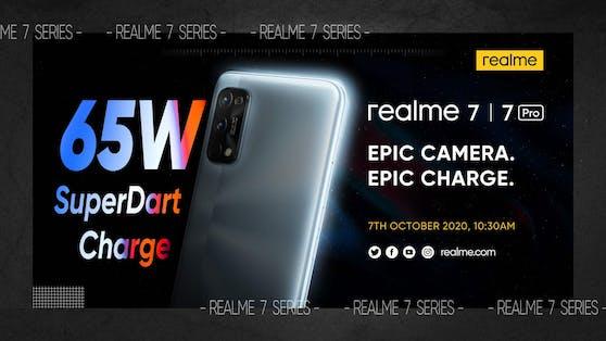 Veröffentlichung der realme 7-Serie am 7. Oktober.