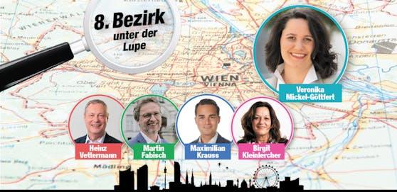Das sind die Spitzenkandidaten in der Josefstadt