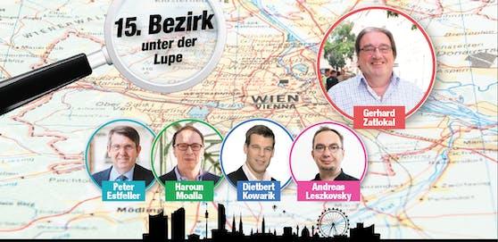 Das sind die Spitzenkandidaten in Rudolfsheim-Fünfhaus