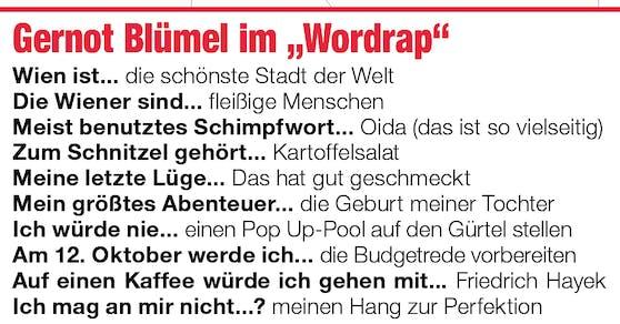"""Finanzminister und ÖVP Wien-Spitzenkandidat Gernot Blümel im """"Öffi Talk""""-Wordrap"""