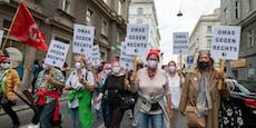 Großdemo für Aufnahme von Flüchtlingen in Wien