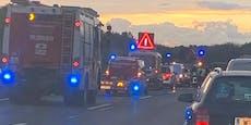 Chaos im Frühverkehr: Unfall legte A22 lahm