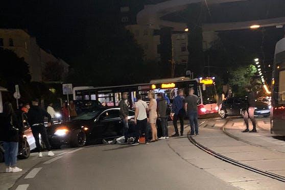 Schwerer Crash in Wien-Brigittenau