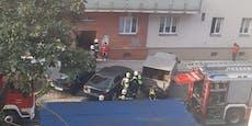 Feuerwehr-Einsatz wegen Brand in Wiener Gemeindebau