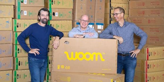 Die woom-GründerChristian Bezdeka, Marcus Ihlenfeld und CEO Guido Dohm
