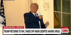 Trotz Coronavirus nimmt Donald Trump seine Maske ab