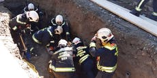 Arbeiter auf Wiener Baustelle verschüttet