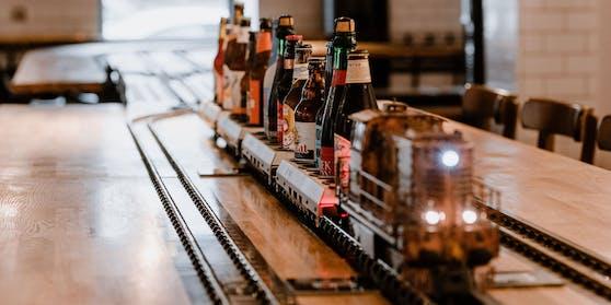 """Das Výtopna hat ein selbst gebrautes Bier namens """"Mazut""""."""