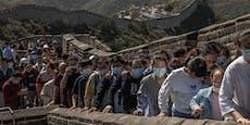 Touristen-Massen stürmen trotz Corona Chinesische Mauer