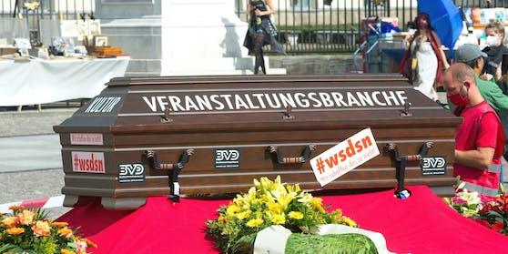 Deutschland: Viele Event-Veranstalter stehen in der Corona-Krise vor dem Aus - hier ein Protest-Foto aus August 2020