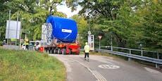 """Westring: Hier """"rollt"""" ein 65-Tonnen-Stahlseil hinab"""
