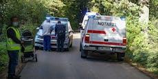 Kinderwagen von Lkw erfasst, Baby herausgeschleudert