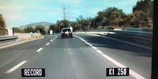 Führerscheinneuling donnert mit 240 km/h nach Wien