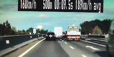 Raser-Quartett machte Autobahnen in Wien unsicher