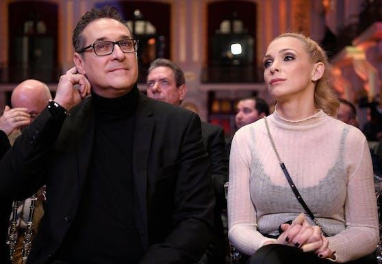 Heinz-Christian Strache mit Gattin Philippa
