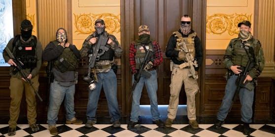 Die Festgenommenen standen in Verbindungen zu einer Miliz namens Wolverine Watchmen.