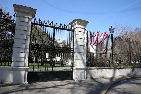 Während des ersten Lockdowns war der Burggarten geschlossen worden.