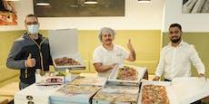 Darum bäckt City-Lokal vor Lockdown 14-Meter-Pizza