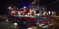 Insasse bei Feuer-Drama auf der A2 im Wrack verbrannt