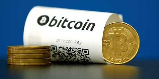 Ein etwas irreführendes Symbolbild, denn Bitcoins existieren nur als digitale Zahlenwerte.