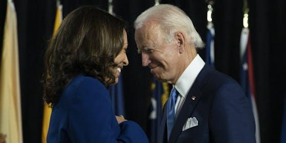 US-Wahlgewinner unter sich: Kamala Harris und Joe Biden